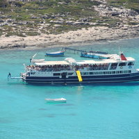Balos and Gramvousa boat with slide